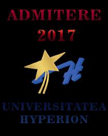 Admitere Universitatea Hyperion 2017